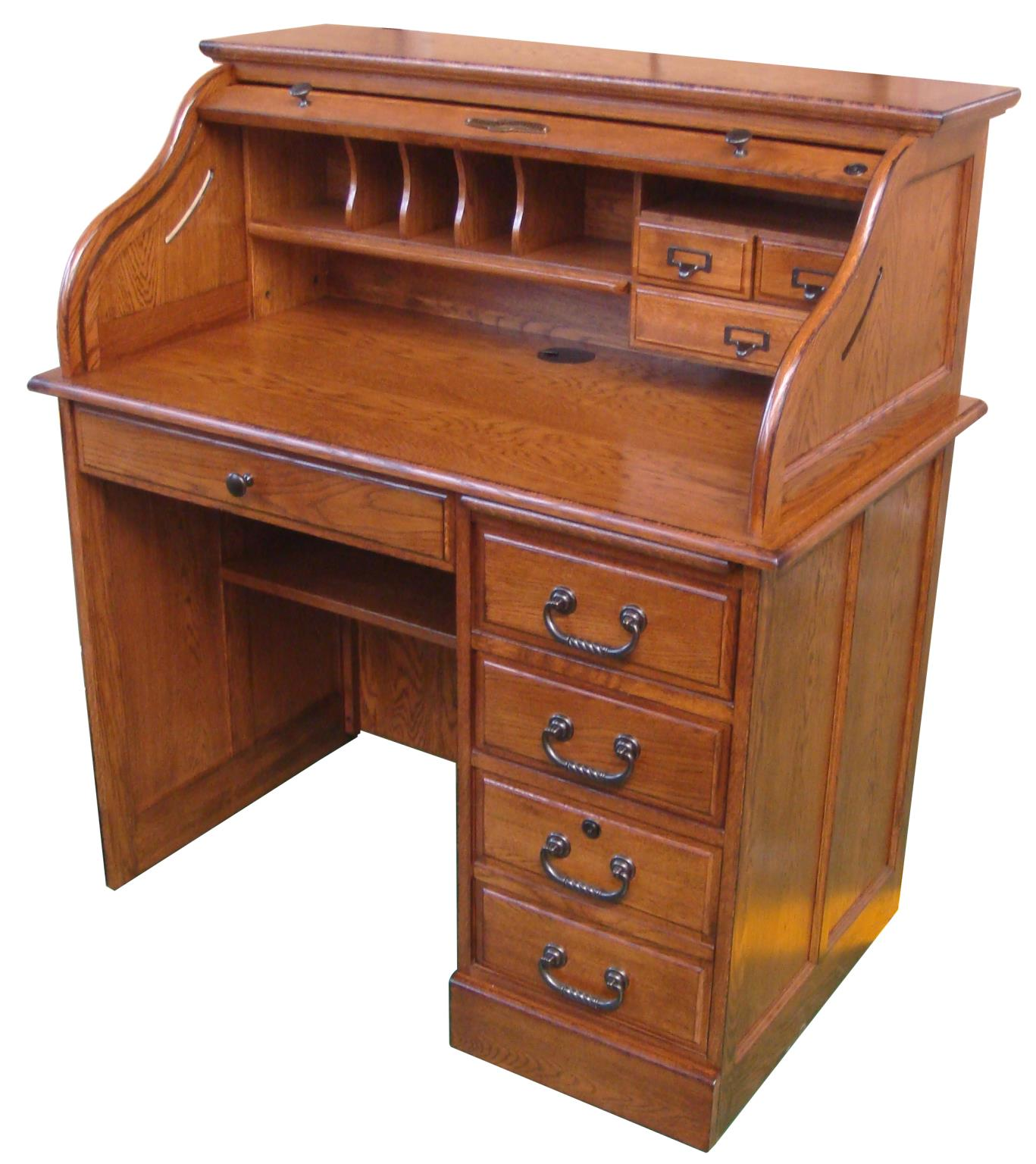Furniture - Home Office - Solid Wood Roll Top Desks - Country Marketplace