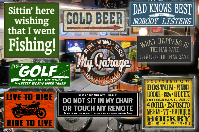 Wood Signs With Sayings Quotes Man Cave Guys Humor Wood Signs
